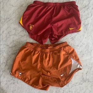 USC Trojans and Texas Longhorns Nike shorts.